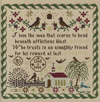 An Almighty Friend by The Victorian Motto Sampler Shoppe