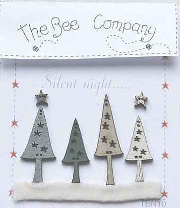Christmas Collection button pack by The Bee Company TBN10
