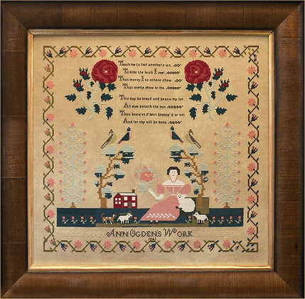 Ann Ogden 1843 by Hands Across the Sea Sampler