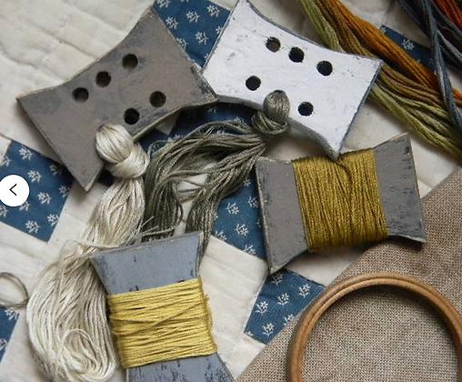 Wooden Spool Thread Palette by Notforgotten Farm