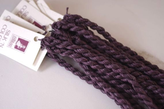 Aged Plum Silk N Colors by The Thread Gatherer