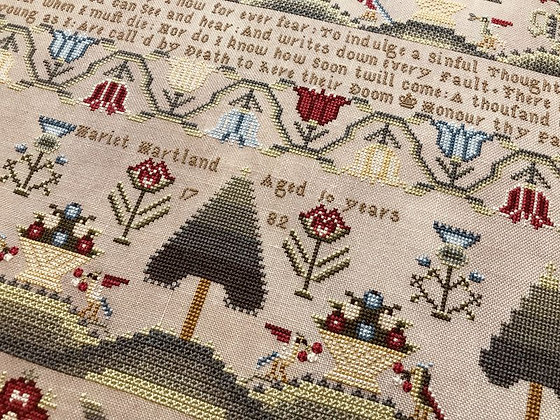 Hariet Hartland 1782 by Hands Across the Sea Samplers