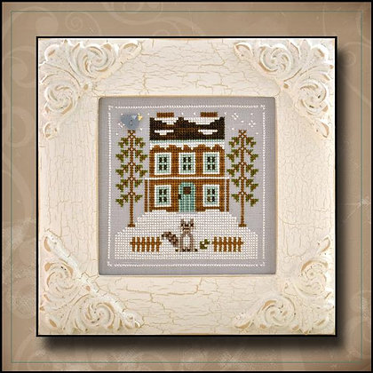 CATS Frosty Forest:Raccoon Cabin by Country Cottage Needleworks