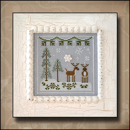 CATS Frosty Forest:Snowy Reindeer by Country Cottage Needleworks