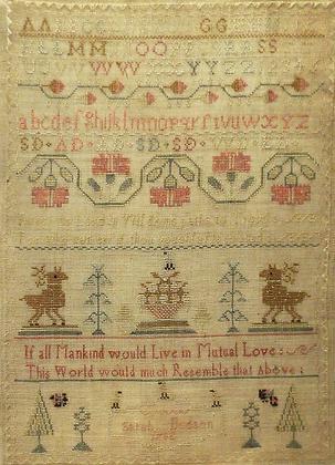 Sarah Dodson 1782 by Samplers Forever