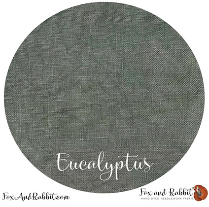 36 Count Eucalyptus Linen Fat Quarter Cut by Fox & Rabbit De