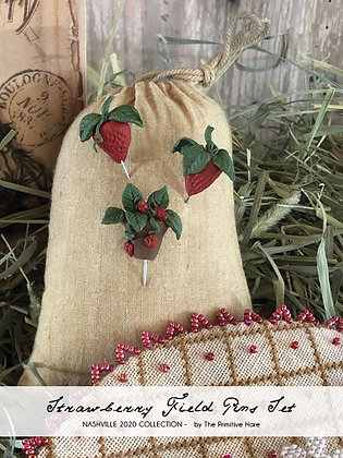 NASH-STASH Strawberry Field Pin Set by The Primitive Hare