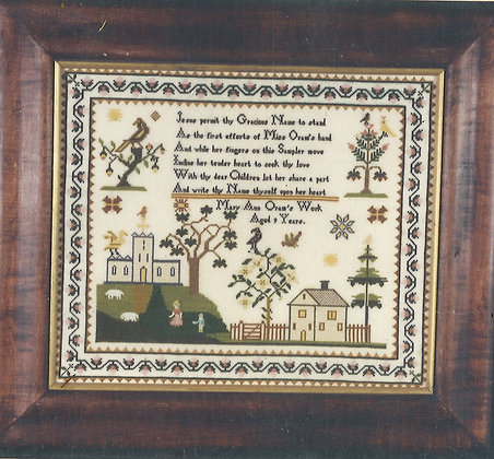 Mary Ann Oram KIT with floss/linen by The Scarlet Letter