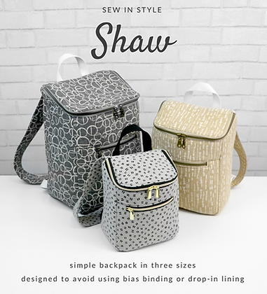 Sew in Style: Shaw Packpack PATTERN (3 Sizes) by Sallie Tomato