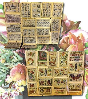 NASH STASH Antique Pattern Album by Cross Stitch Antiques