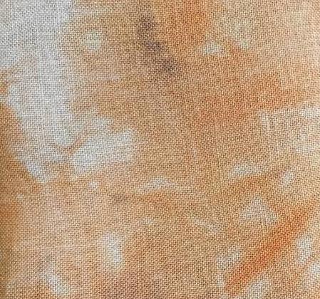 36 Count Halloween Pumpkin Fat Quarter Hand-Dyed Linen by xJudesign