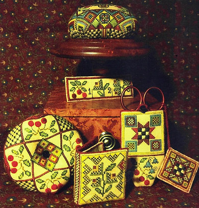 Fraktur Sewing Set Part II by Heart's Ease Examplar Wo