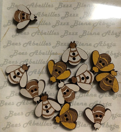 Bee Buttons by The Bee Company TBM9