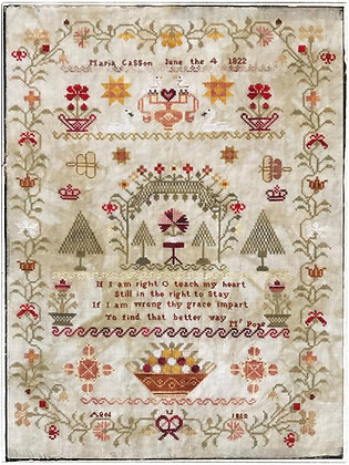 Maria Casson 1822 by Lucy Beam Love in Stitches