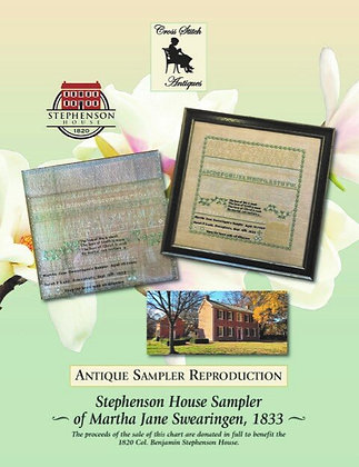 Stephenson House Sampler by Cross Stitch Antiques