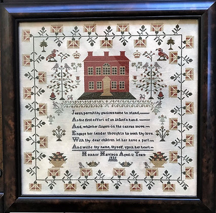 Honnor Harrison 1835 Reproduction Sampler by Victorian Rose Needlearts