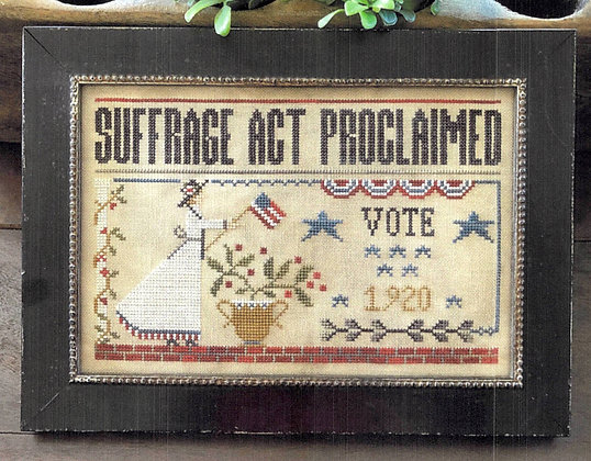 Suffrage Act by Little House Needleworks
