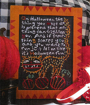 *Halloween Fun (Chart and Linen) by Birds of a Feather