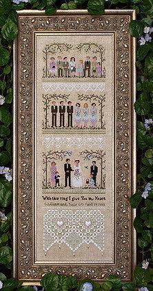 CATS Garden Wedding Sampler chart & acc. pack by Victoria Sampler