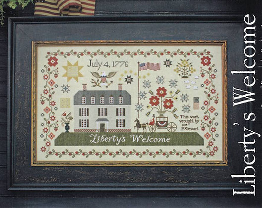 Liberty's Welcome by Plum Street Samplers