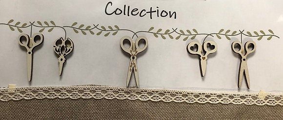 Scissors Buttons by The Bee Company TB13CC