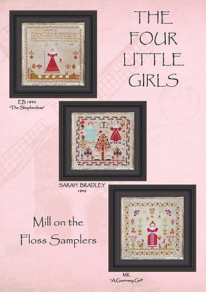The Four Little Girls by Mill on the Floss Samplers