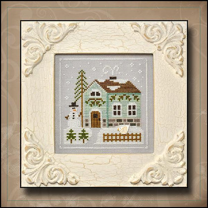 CATS Frosty Forest:Snowman's Cottage by Country Cottage Needleworks