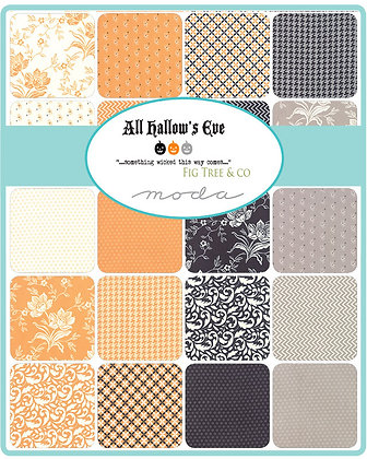 All Hallow's Eve Fat quarter Bundle by Fig Tree & Co.