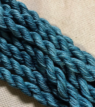 Vintage Teal Gloriana 12 Strand Silk 6 Yards