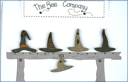Witch's Hats button pack by The Bee Company TBHA7