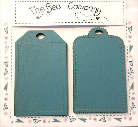 Blue Nameplates by The Bee Company ET12