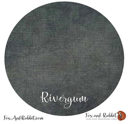 32 Count Rivergum Linen Fat Quarter Cut by Fox & Rabbit Designs