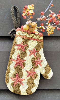 CATS Stars & Stripes Mitten (Punchneedle) by Carriage House Samplings