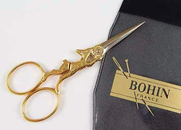 "3 1/2"" GOLD Rabbit Embroidery Scissors by Bohin"