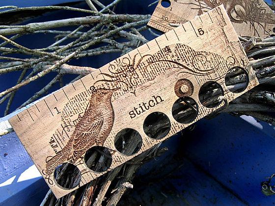 Stitch Bird Ruler & Thread Keep by Retromantic Fripperies