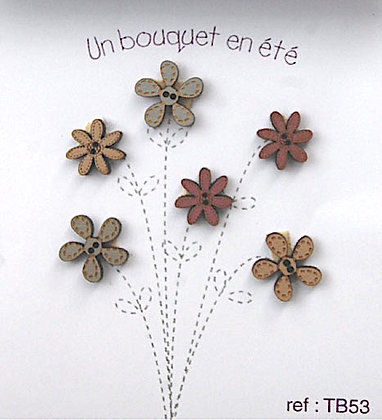 Spring Flowers Button Set by The Bee Company TB53