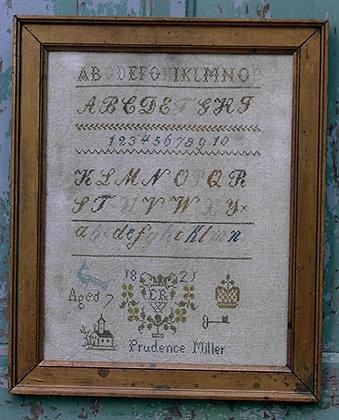 Prudence Miller's Framed Sampler by Stacy Nash Primitives