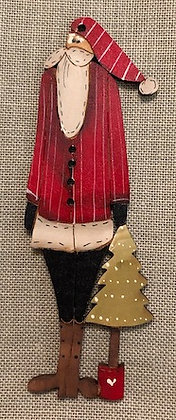 *Santa with Tree in Pot by Theodora Cleave