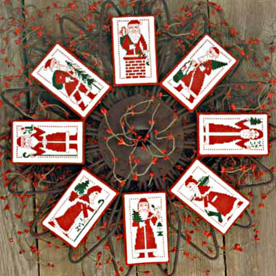 Redwork Santas by The Prairie Schooler