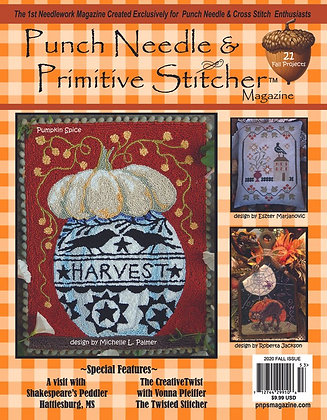 Fall 2020 Punch Needle & Primitive Stitcher Magazine