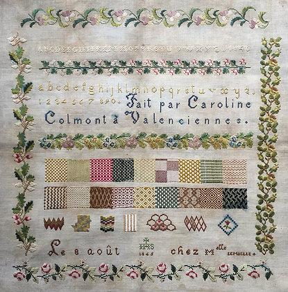 SILKS SET FOR Caroline Colmont 1845 by Reflets de Soie