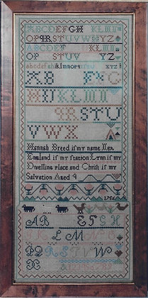 The Hannah Breed Sampler 1756 by The Scarlet Letter