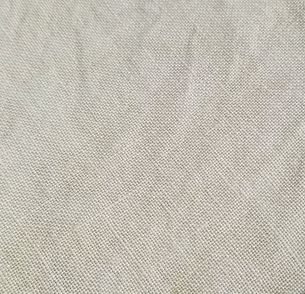 40 Count Cappuccino Fat Quarter Hand-Dyed Linen by Fiber on a Whi