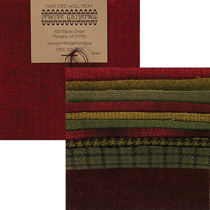 """HOLIDAY Wool 5"""" Charm Pack by Primitive Gatherings"""