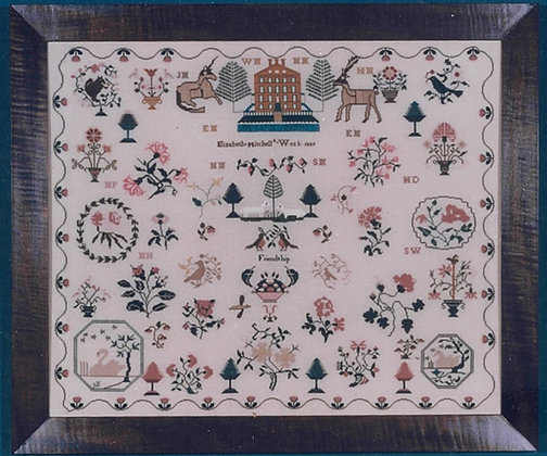 Elizabeth Mitchell KIT with floss/linen by The Scarlet Letter