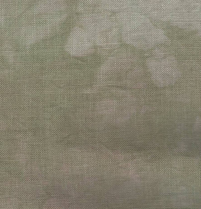 32 Count Sooty Santa Fat Quarter Hand-Dyed Linen by Dames of the Needle