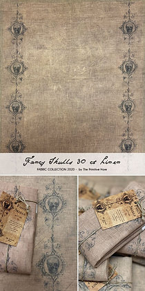 30 Count Fancy Skulls Linen by The Primitive Hare
