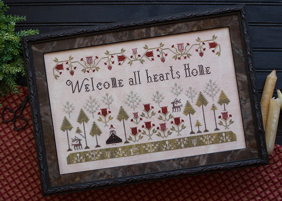 *Welcome All Hearts Home by Plum Street Samplers