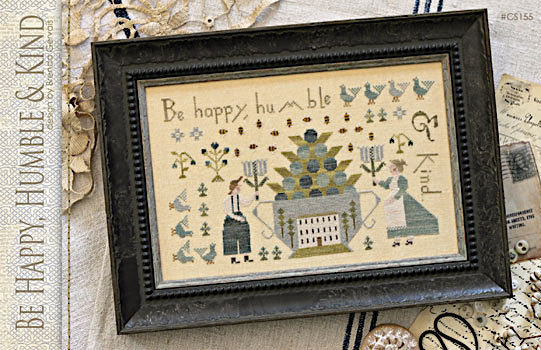 Be Happy, Humble & Kind by With Thy Needle & Thread Brenda Gervais