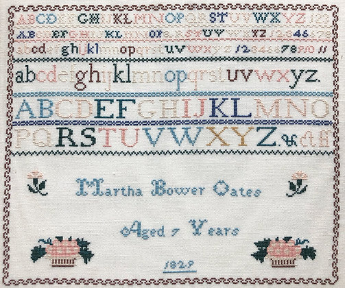 Martha Bower Oates by Hewitt Hill Samplers